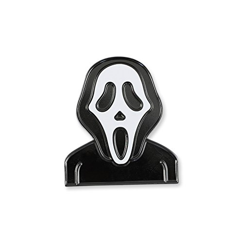 Forge Scream Mask Halloween Emoji Black Ghost Face Scary Movie Enamel Lapel Pin- 5 Pins]()