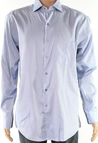 (Alfani Mens One Pocket Pinstriped Dress Shirt Blue 15 1/2)