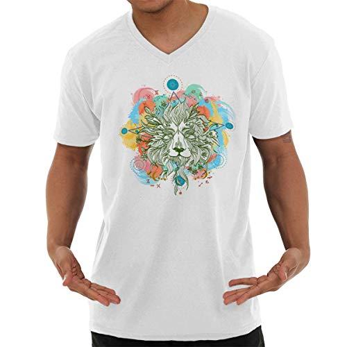 (Spirit Animal Lion Symbolic Graphic Pretty V-Neck T Shirt)