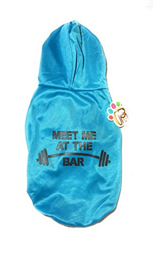 Dog or Puppy Sweater Hoodie ´Meet Me At The Bar´ Blue for Small or Medium Pets S size/ Small Fashion and Funny Hoodie Shirt Petmont Brand For Boys Or Girls ()