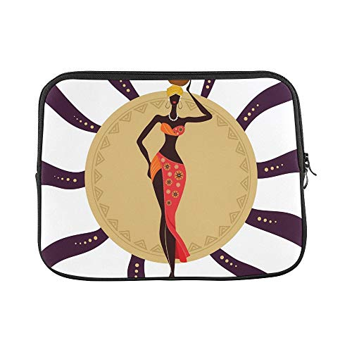 Design Custom African Woman Jug Sleeve Soft Laptop Case Bag Pouch Skin for MacBook Air 11