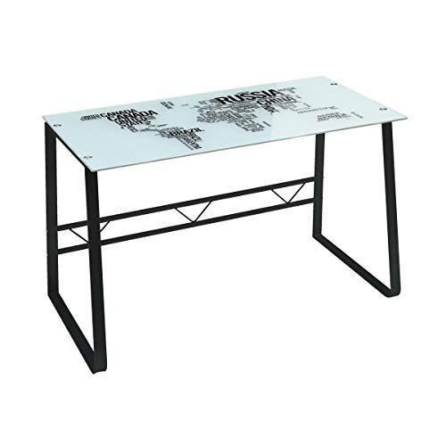 Mesa Escritorio de Cristal Blanca Moderna para Oficina Factory - LOLAhome