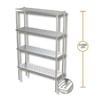 Estantería de 120x50x200 estanterías 4 estantes perforados ...