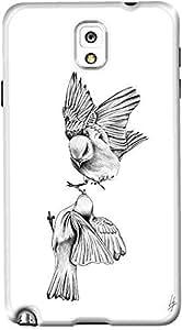 DailyObjects Birdies Love Case For Samsung Galaxy Note 3 White/Cream