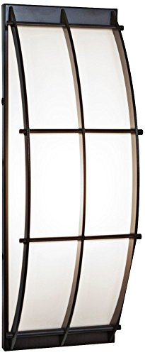 Tyro – Wet Location Wall Fixture – Bronze Finish – Opal Glass Shade For Sale
