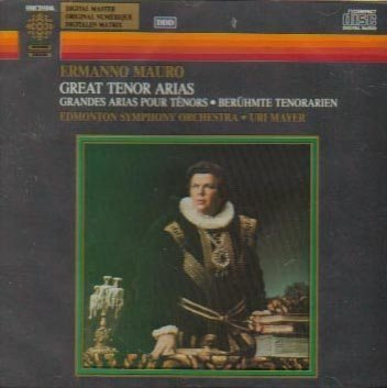 New color Great Tenor Arias Ermanno Mauro Max 73% OFF by