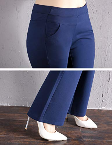 ABCWOO Women's Plus Size Dressy Work Pants for Office,Slimming and Stretchy 18