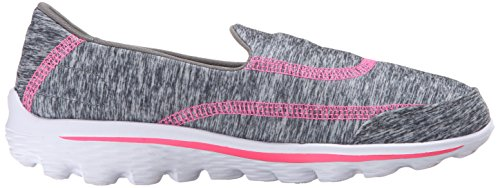 SkechersGo Walk 2 Relay - Zapatillas de running chica Grey (Grey Hot Pink)