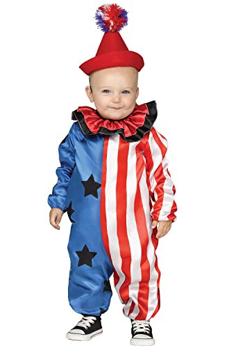 Fun World Happy Clown Toddler Costume, Red, Small (2T) -