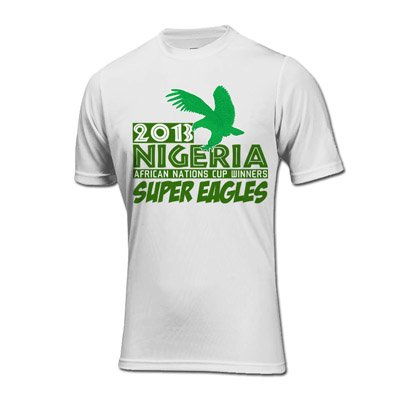 2013 Nigeria African Nations Winners T-Shirt (White) B01MRMM0X1White XL (45-48\