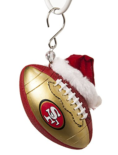 49ers Christmas Ornaments (Team Sports America NFL San Francisco 49ers Football Christmas Ornament, Small,)
