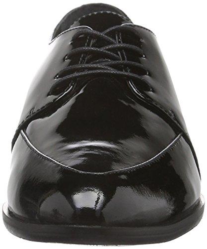 Joop! Ismene Lace Ii Patent, Zapatos De Cordones Derby para Mujer Negro