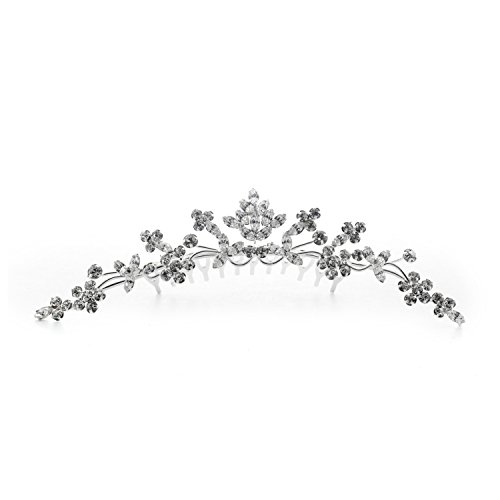 Kate Marie Rhinestone Tiara Hair Comb Crown in -