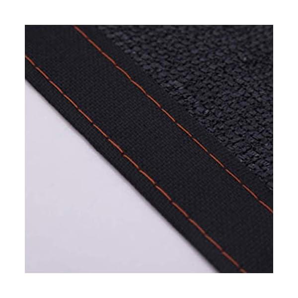 Giow - Telo protettivo per protezione solare in polietilene nero, 24 misure (colore: nero, dimensioni: 6 x 6 m) 6 spesavip