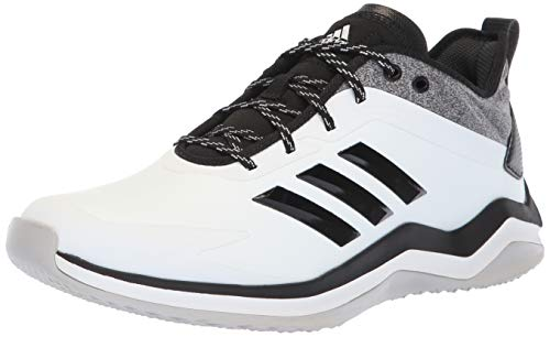 adidas Men's Speed Trainer 4 Baseball Shoe, Crystal White/Black/Carbon, 11.5 M US Adidas Cross Training Shoes