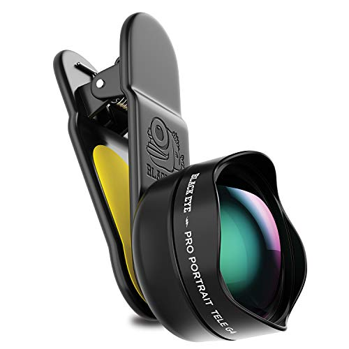 Black Eye - Pro Portrait Tele G4 Clip-on Zoom Lens Compatible with All iPhone, iPad, Samsung Galaxy, and Other Cell Phones