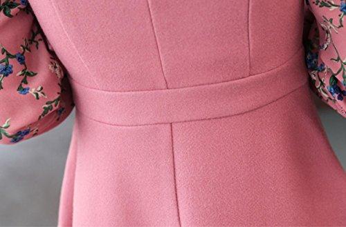 Solide Impression Maigre De Laine De Coolred-femmes Évasé Une Robe Rose Ligne