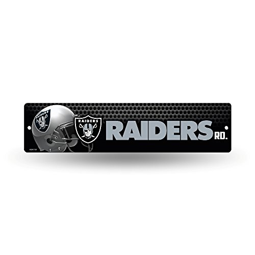 - NFL Oakland Raiders 16-Inch Plastic Street Sign Décor