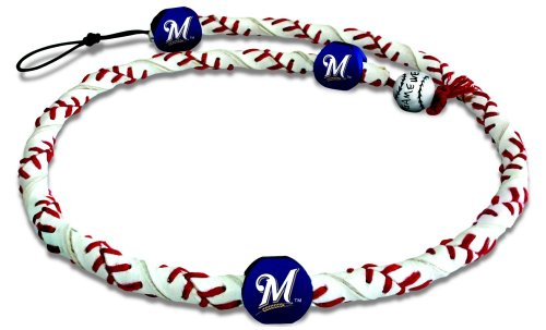 MLB Milwaukee Brewers Classic Frozen Rope Baseball Necklace (Necklace Genuine Mlb)