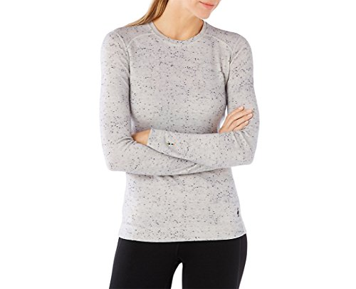 Smartwool Women's NTS Mid 250 Pattern Crew (Winter White Donegal) Medium by SmartWool