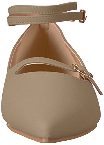 Brinley Co Womens Nadia Ballet Flat Taupe