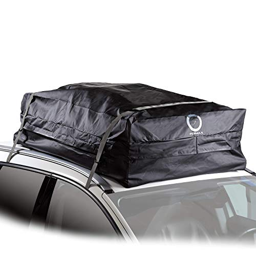 Fedmax New Large Car Rooftop Carrier | Waterproof | Lock Included | Roof Top Luggage Bag (20CFT - Use with or Without Racks)