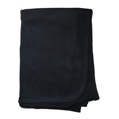 Bambini Black Interlock Receiving Blanket