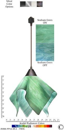 Sea Glass Colored Pendant Lights - 8