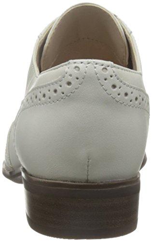 Clarks Damen Hamble Oak Oxford Weiß (White Leather)