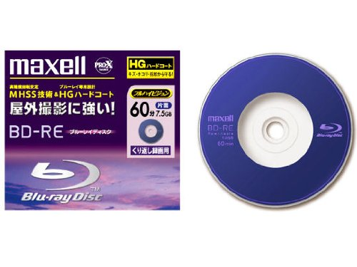 Maxel Mini Blu-Ray BD-RE Rewritable for Camcorder 60 min 7.5GB Pro X Series