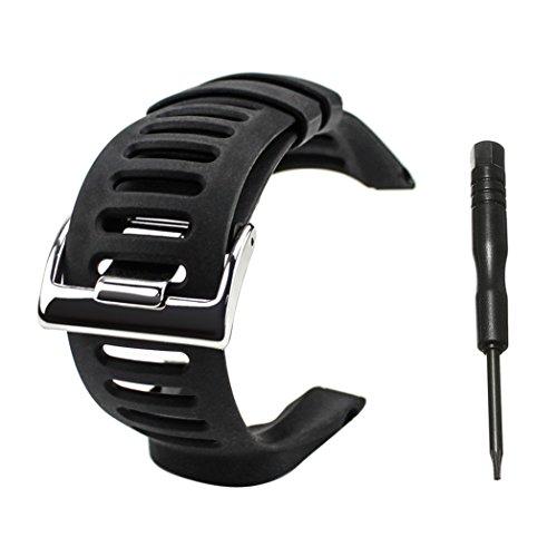 Watch Band Strap, Picowe Watch Band Replacement Soft Rubber for Suunto Ambit 1/2/2S/2R/3 Sport/3 Run/3 PEAK- Screwdriver - Run Sport