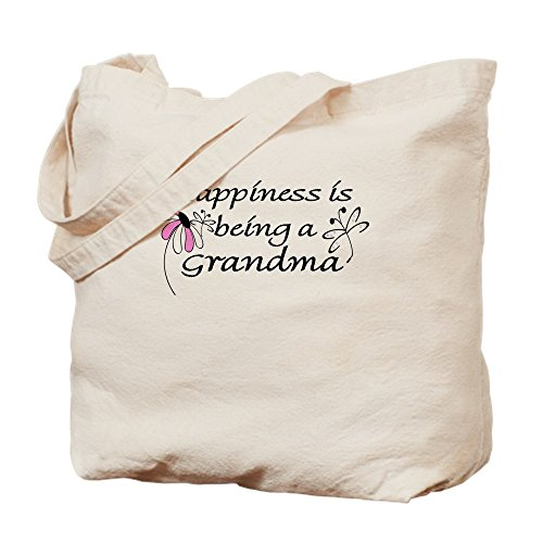 CafePress - Happiness Is Being A Grandma - Natural Canvas Tote Bag, Cloth Shopping Bag
