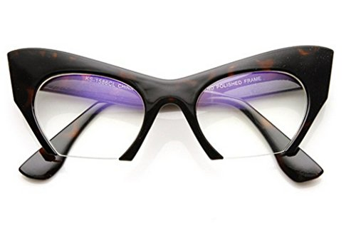 Away Eye (Cateye or High Pointed Eyeglasses or Sunglasses Vintage Inspired Fashion (Fashion Cut Away Tortoise))