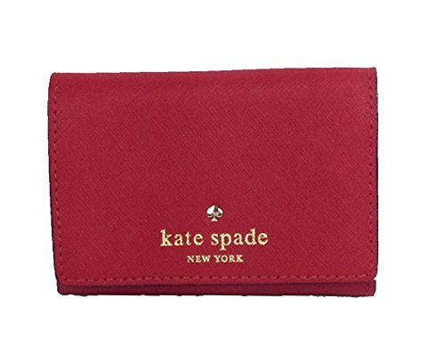 Kate Spade New York Mikas Pond Christine Saffiano Leather Card Case Wallet (Pillbox Red)
