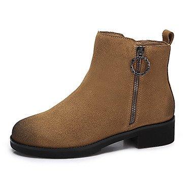 Stivali Pelle US5 5 Casual Scarpe Nero Inverno UK3 Autunno RTRY 5 EU36 Stivali Per Da CN35 Nubuck Moda In Donna La Giallo wFRqSCP