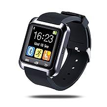 Bluetooth V3.0 Smart Watch wristwatch Health Sport Watch Support Pedometer/Sleep monitoring/Rest Alarm/Drink Alarm/Alarm/Calendar/Stopwatch/Calculator (black)