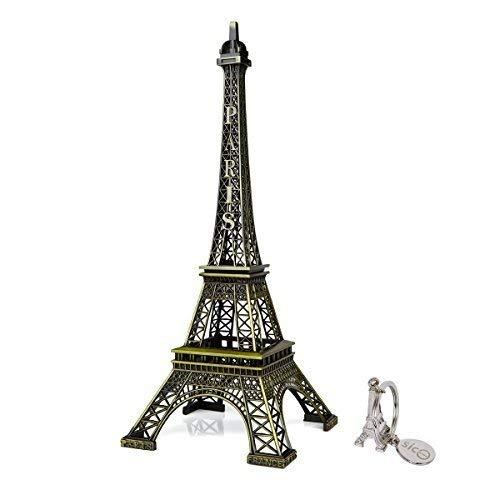 SICOHOME Eiffel Tower Decor,14.8inch,Bronze,Big Paris Eiffel Tower Centerpiece for -