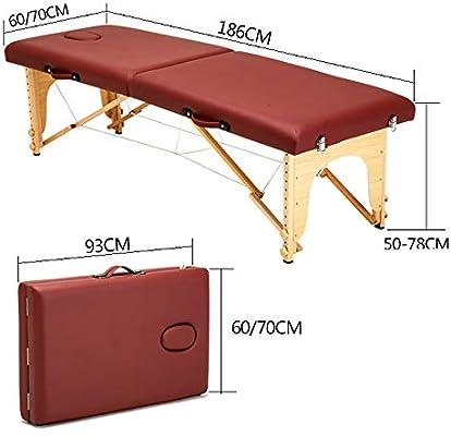 LiangDa Mesa De Masaje Plegable 2 Sección portátil Mesa de masajes ...