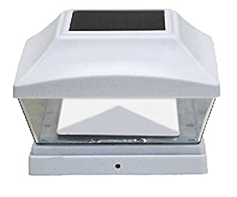 "6"" x 6"" Solar Post Cap Light LED Bright SMD, 1 Piece, White (6x6)"