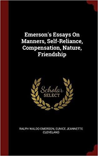 Paper Essay Emersons Essays On Manners Selfreliance Compensation Nature Friendship Sample Of An Essay Paper also Essay For English Language Amazoncom Emersons Essays On Manners Selfreliance Compensation  Business Essay Structure