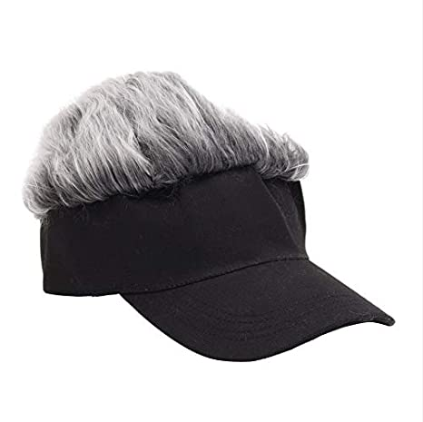 4f64d47ac11 Image Unavailable. Image not available for. Color  ALWLj Baseball Cap Wig Cap  Women Men Fake ...