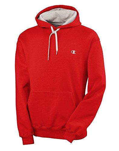 Champion Men's Pullover Eco Fleece Hoodie, Crimson, XX-Large