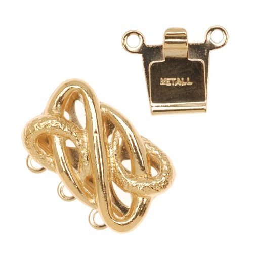 23K Gold Plated Box Clap - Serpentine Design 17x13mm (1)