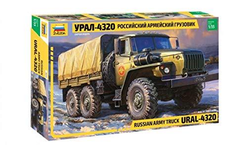 (Zvezda 3654, URAL-4320 Russian Army Truck, 1:35 Scale Plastic Model)