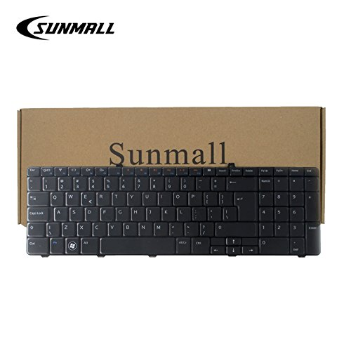 SUNMALL Keyboard Replacement for Dell Inspiron 17R N7010 Series Laptop,compatitable part number 8V8RT 08V8RT AEZE6700110 9Z.N3E82.B1D V104025CS Black US Layout(6 Months Warranty) by SUNMALL