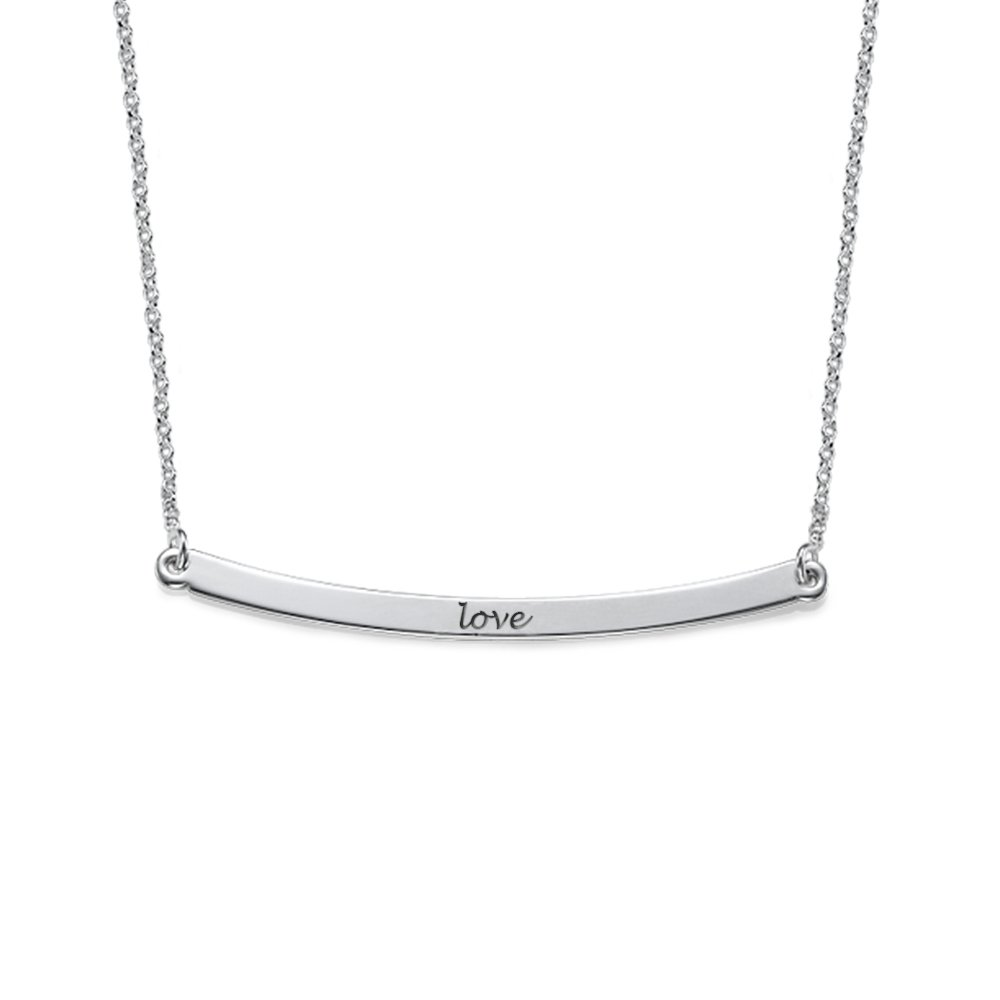 horizontal bar necklace naiise horizontalbarnecklacemodelsil products