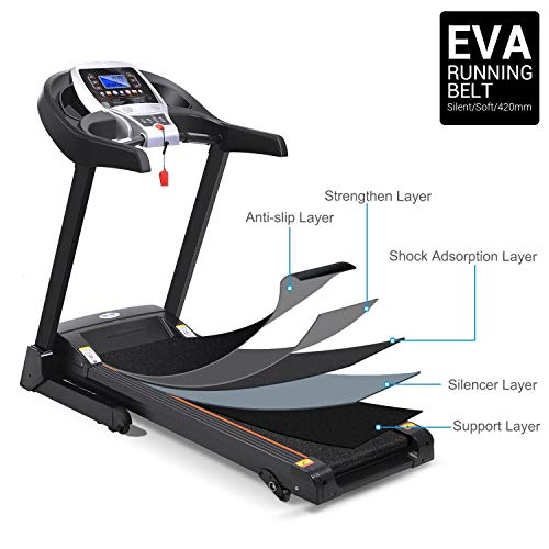 Folding Electric Treadmill Incline with Smartphone APP Control, Power Motorized Fitness Running Machine Walking Treadmill(US Stock) (2.25 HP #2) by Tomasar (Image #1)
