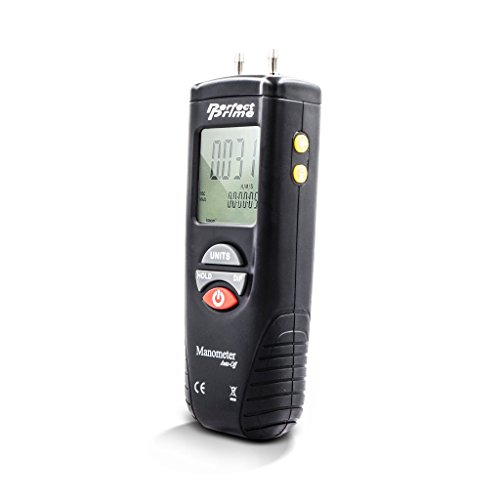 PerfectPrime AR1890 Professional Digital Air Pressure Meter & Manometer to Measure Gauge & Differential Pressure ±13.79kPa / ±2 psi / ±55.4 H2O ()