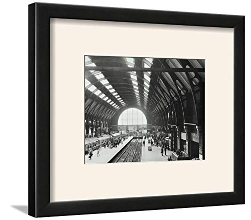 - ArtEdge Kings Cross Station, Camden, London, 1970 Wall Art Framed Print, 9x12, Black Soft White Mat