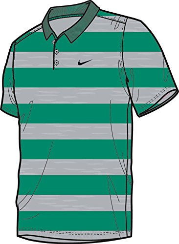 Nike Men's Golf Victory Bold Stripe Polo - Large - Teal Charge/Black